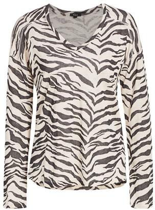 Rails Sami Zebra-Print Long-Sleeve T-Shirt