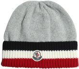 Moncler Striped Wool Tricot Beanie Hat