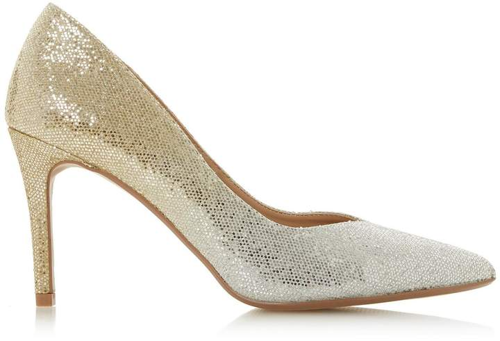 922cf030b6 Gold Court Shoes Mid Heel - ShopStyle UK
