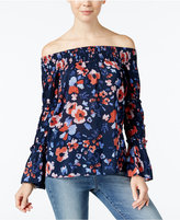 William Rast Annie Printed Off-The-Shoulder Top