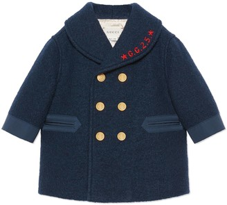 Gucci Baby wool coat with embroidery