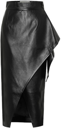 MATÉRIEL Faux-leather wrap skirt