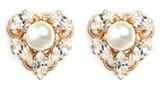 Anton Heunis Swarovski crystal pearl stud earrings