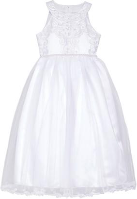 Iris & Ivy Embroidered Sleeveless Tulle Dress