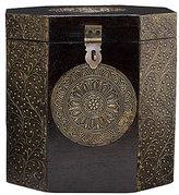 Octagon Metal Inlay Jewelry Box