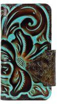 Patricia Nash Turquoise Tooled Vara iPhone 7 Folio Case
