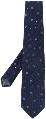 Canali Dotted Print Tie