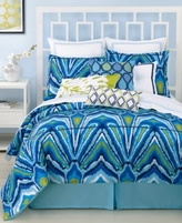 Trina Turk CLOSEOUT! Blue Peacock Comforter and Duvet Cover Sets