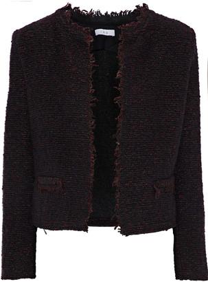 IRO Coffey Frayed Boucle-tweed Jacket