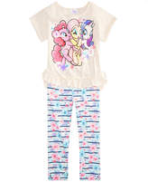 My Little Pony 2-Pc. Ruffle-Trim Top & Leggings Set, Toddler Girls