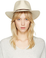 Rag & Bone Beige Packable Straw Fedora