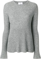 Allude flared sweater