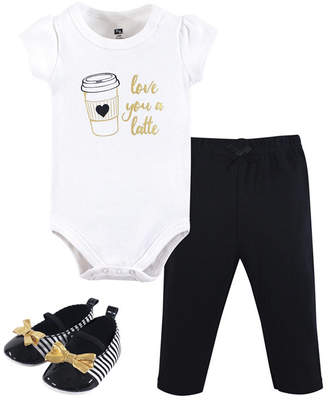 Hudson Baby Baby Girl Bodysuit, Pants and Shoes Set