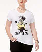 Hybrid Trendy Plus Size Cotton Minions Graphic T-Shirt