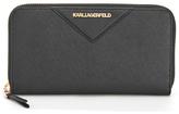 Karl Lagerfeld Women's K/Klassik Zip Around Wallet Black