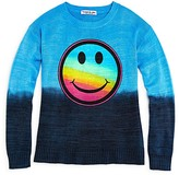 Flowers by Zoe Girls' Smiley Face Dip Dye Sweater, Sizes S-XL - 100% Exclusive