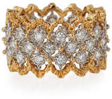 Buccellati Rombi 18K Gold Diamond Ring, 1.02 tdcw, Size 55
