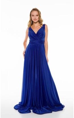 Ladyness Ladyness Royal Blue Maxi Bridesmaid Dress