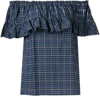 Hache ruffled blouse