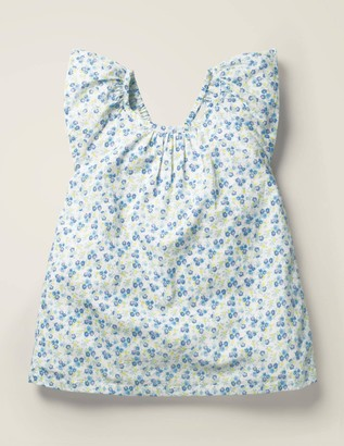 Frill Floral Woven Top