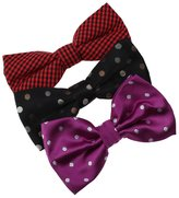 DBE0142 Various For Pretty Microfiber Birthday Pre-Tied Bowties 3 Pack Bow Tie Set By Dan Smith