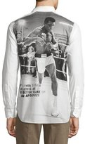 Robert Graham Muhammad Ali Long-Sleeve Woven Shirt, White