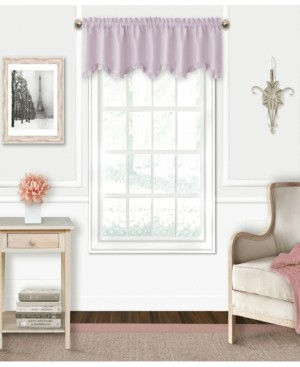 "Elrene Kids' Adaline 52"" x 15"" Faux-Silk Rod Pocket Curtain Valance"