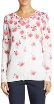 Lela Rose Floral Knit Cardigan