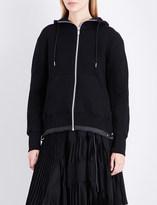Sacai Branded cotton-jersey hoody