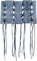 Manokhi - lace-up belt - women - Leather - One Size