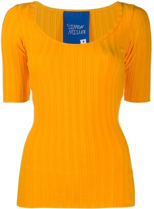 Simon Miller Knitted Short Sleeve Top
