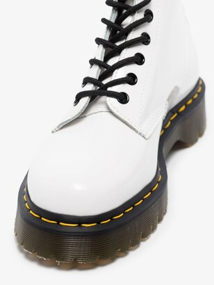 Dr. Martens White 1460 Bex Patent Boots
