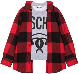 Moschino Multicolor Teen Sweatshirt With Black Logo