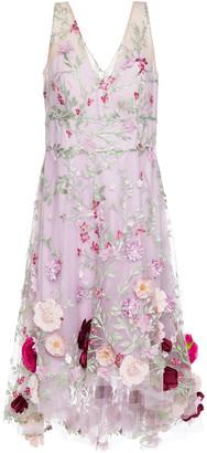 Marchesa Notte Embellished Tulle Dress