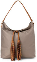 Deux Lux Grey Linden Tasseled Hobo
