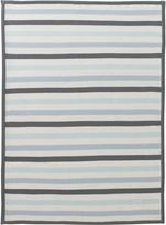 DwellStudio Dwell Studio Robin's Egg Stripe Knit Blanket