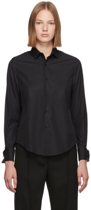 Noir Kei Ninomiya Black Cotton Cufflink Shirt