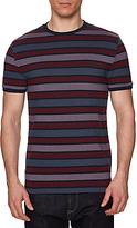 Original Penguin Birdseye Stripe T-shirt, Dark Sapphire