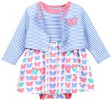 Offspring Butterfly Bodysuit Dress & Cardigan Set (Baby Girls)