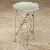 The Well Appointed House Global Views Round Directoire Table in Nickel with Mirrored Top