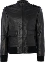 Calvin Klein Major Leather Moto Jacket