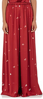 The Row Women's Paba Silk Satin Pants-RED