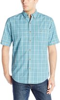 Arrow Men's Short Sleeve Seaside Textured Plaid Shirt