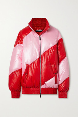 House of Holland Vivid Oversized Striped Shell Down Jacket - Pink