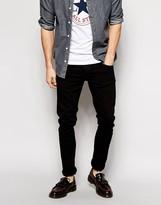 Nudie Jeans Tight Long John Skinny Fit Black Black Wash