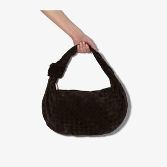 Bottega Veneta dark brown Jodie small suede shoulder bag