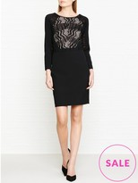 Reiss Libby Lace Panelled Bodycon Dress