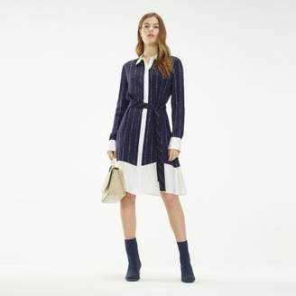 Tommy Hilfiger Logo Print Patchwork Shirt Dress