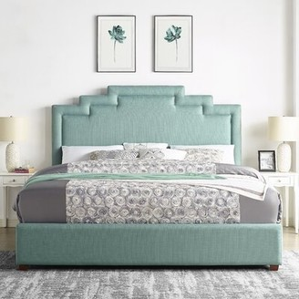 Ivy Bronx Leafwood Upholstered Standard Bed Size: King