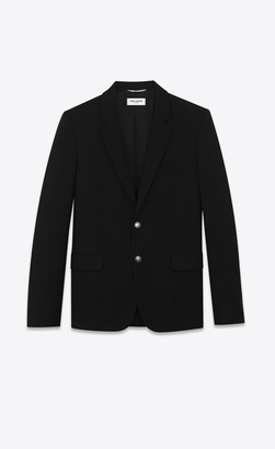 Saint Laurent Blazer Jacket Blazer In Wool Gabardine Black 34